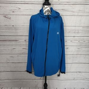 Champion Blue Long Sleeve Windbreaker